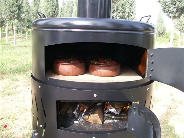 Flammkuchenofen pizzaofen holzbackofen grill fr80 ausstellungsst ck ebay for Backofen mit wagen