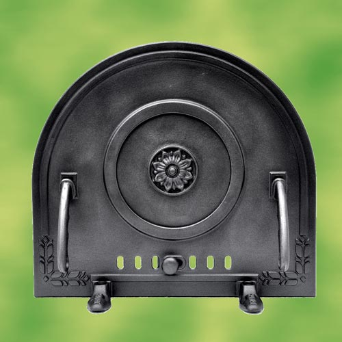 pizza oven door protection cover made of cast iron for oven bread baking new. Black Bedroom Furniture Sets. Home Design Ideas