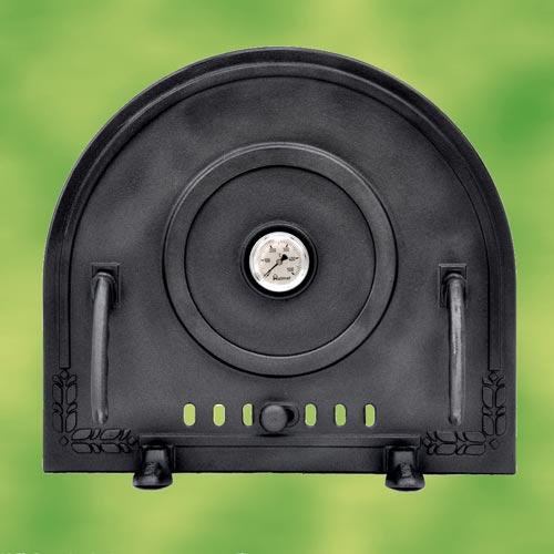 pizzaofent r schutzklappe aus gusseisen mit thermometer. Black Bedroom Furniture Sets. Home Design Ideas