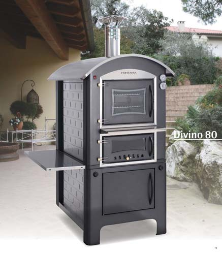 fahrbarer holzbackofen brotbackofen pizzaofen divino 80 aus italien t v gepr ft ebay. Black Bedroom Furniture Sets. Home Design Ideas
