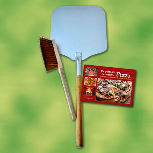 Pala pizza set 3 piezas para horno de le a piedra pan for Pala horno pizza
