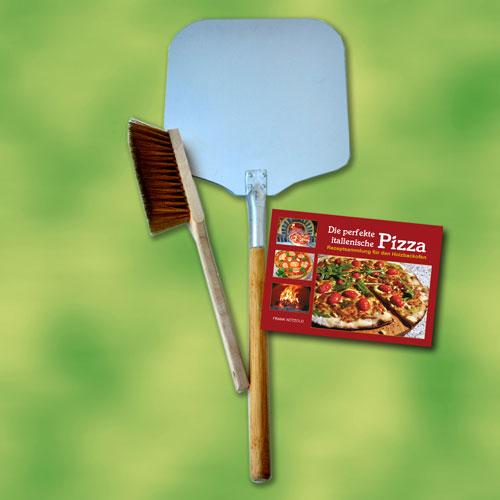 Pala pizza set 3 piezas para horno pizza horno de le a for Pala horno pizza