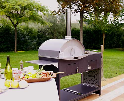 Pizzaofen - Barbecue - Grill - Outdoorküche - Smoker - Wok - 6 in 1 ...